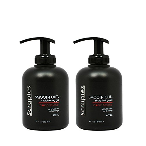 (Scruples Smooth Out Straightening Gel Flexible 250 ml / 8.5 oz Pack of 2)
