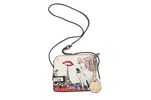 Authentic Arosa U.S.A. | European Fashionista in Paris | Graphic Design Vintage Urban Edgy Purse: FHS8250 ()