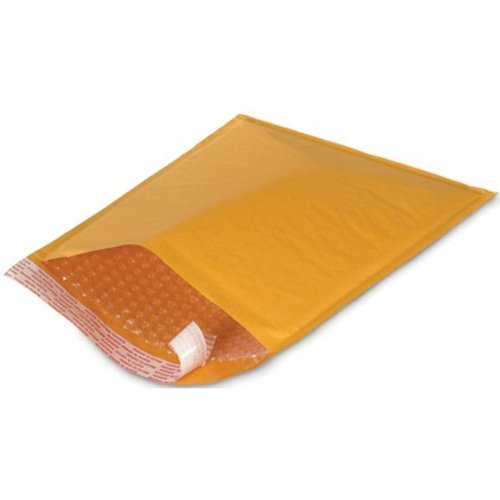 "Kraft CD Air Bubble Padded Mailers 7.25"" X 8"", 100 ct."