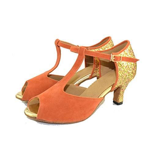 Bailando Zapatos Flash Acogedor Modernos Fiesta Baile Salón De 5cm Boca Mujer Whl ll Pescado Moda Orange7 La Latino qXU66Sx