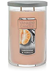 Yankee Candle Large Jar 2 Wick Tangerine & Vanilla Scented Tumbler Premium Grade Candle Wax with up to 110 Hour Burn Time