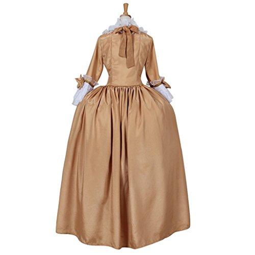 Gothic Kleid Barocken Rokoko Mittelalterliche Kostüm Abendkleid Cosplayitem Elegante Dunkelgelb Viktorianischen Maskerade Leistung Frauen Konzert fwXqYxaC