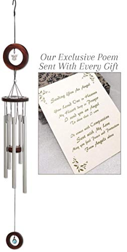 Send You an Angel Sympathy Gift Wind Chime to Send for Funeral Or Memorial When Someone Loses A Loved One (Poems To Send To Your Best Friend)