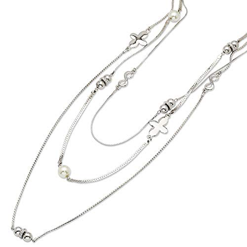 Roy Rose Jewelry The Jacqueline Kennedy Collection Triple Strand Necklace - Jacqueline Collection Kennedy
