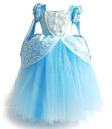 Cinderella Dress Princess Costume Halloween Party Dress Up