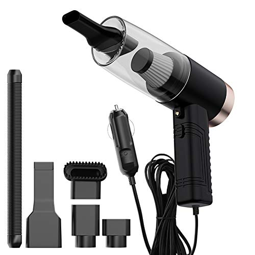 Portable Car Vacuum Cleaner High Power Handheld Vacuum 120W 4500Pa DC 12V Car Interior Cleaning Accessories Kit with LED Light and Aromatherapy Tablet