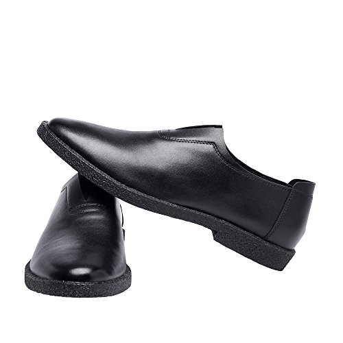 in Scarpe BMD vera Dimensione opaca di punta Casual lacci punta Nero e Mocassini Color uomo a fodera da Marrone Shoes con Scarpe pelle EU pelle con 38 q008rfw5
