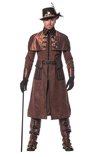 Pour Steampunk Shoperama Marron Industriel Victorien Style Homme Manteau Grande noir Déguisement Veste Qualité REwxZBwd