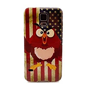 HJZ Samsung S5 I9600 compatible Graphic/Cartoon/Cool Skulls/Special Design/National Flag Plastic Back Cover
