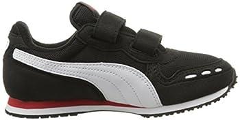 Puma Cabana Racer Mesh V Kids Sneaker (Toddlerlittle Kidbig Kid), Black White, 1.5 M Us Little Kid 7