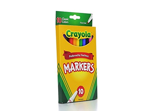 Crayola Classic Fine Line Markers,10 Count (Case of 24) by Crayola