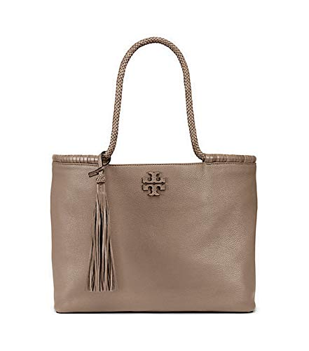 Tory Burch Taylor Tote Women's Leather Large Handbag (Silver ()
