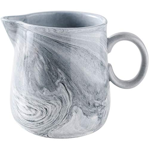 - Nordic Marbled Ceramics Creamer Coffee Creamer Milk Cup