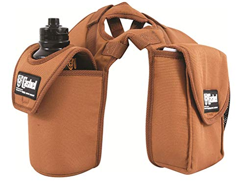 Cashel Lunch Bag with Bottle Holder Pommel Horn Bag Horse Saddle Accessory - Color: Brown ()
