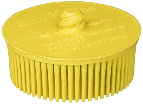 3M 07525 Roloc 2 x 5/8-Inch Tapered Medium Grade Bristle Disc, 10 Discs ()