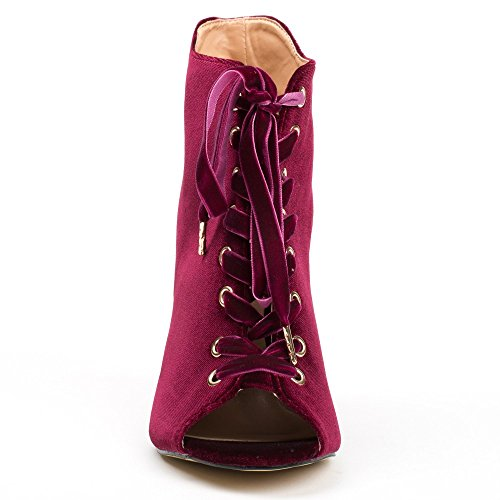 Ideal Shoes, Damen Stiefel & Stiefeletten Bordeaux