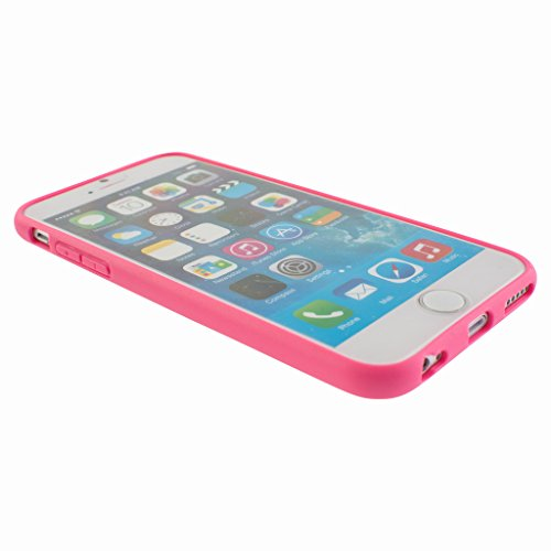 Good Style Apple iphone 6 Case cover, TPU Rubber Ultra Thin Bumper Twin Colour Case Frame Protective Cover For iPhone 6 (Pink)