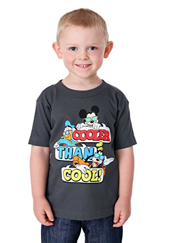 Disney Toddler Boys' Mickey Mouse Short Sleeve T-Shirt, Charcoal, -