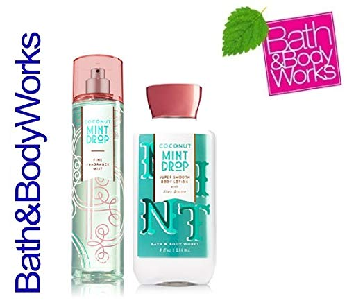 Bath and Body Works Coconut Mint Drop Body lotion and Fine Fragrance Mist