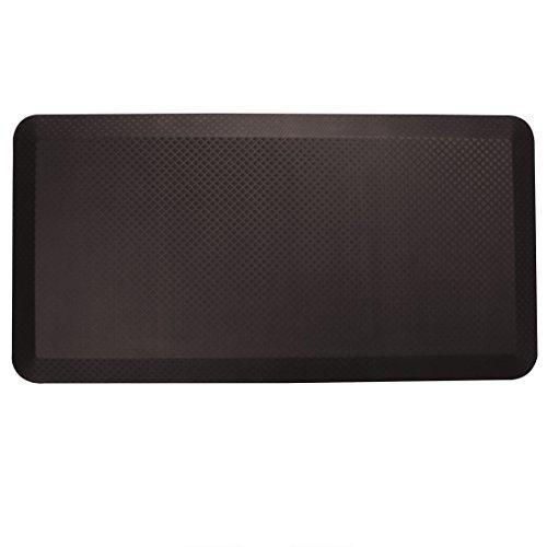 "FlexiSpot Standing Desk Mat 20 in x 39 in Non-Slip Comfort Kitchen Floor Mat 3/4"" Anti-Fatigue Flat Kitchen mats Brown"