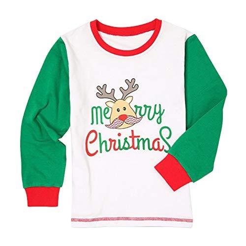 Abbigliamento pigiami 2 stampato Natale Wongfon piece Home set cotone Bambini pigiama xwFZwqIa