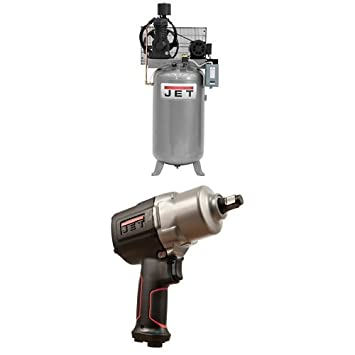 Jet  80 Gallon Vertical Air Compressor With Jat  Impact Wrench Amazon Com