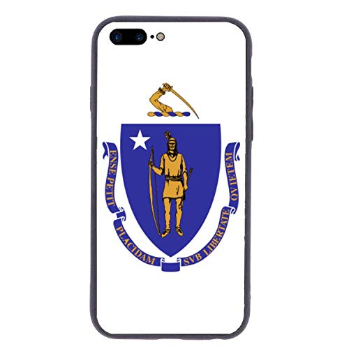 CHUFZSD Massachusetts State Flag iPhone 7/8 Plus Case Soft Flexible TPU Anti Scratch Shock-Proof Protective Shell Compatible Phone Case Cover (5.5 Inch)
