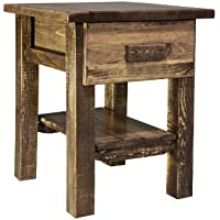 Montana Woodworks Homestead Collection Nightstand/End Table with Drawer and Shelf, Stain and Lacquer Finish