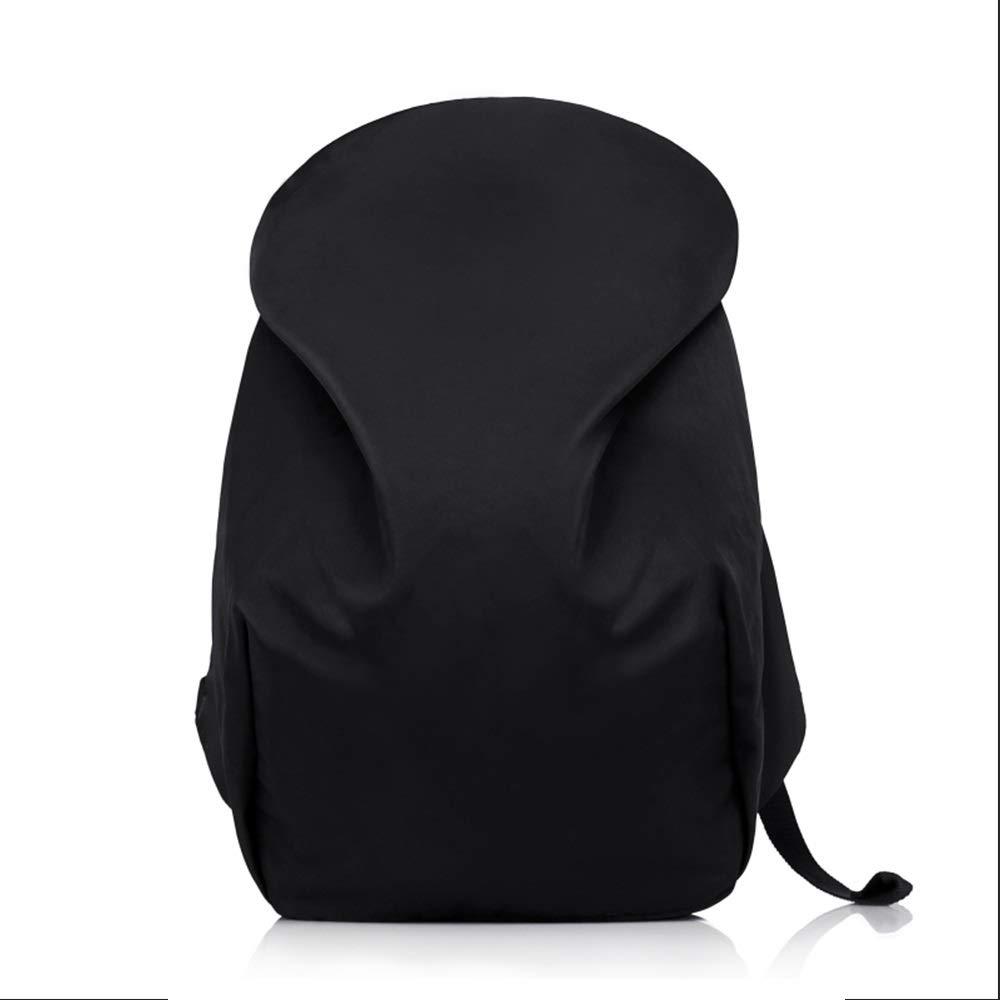 バックパックバックパックシンプルな大容量旅行コンピュータバッグ防水ファッショントレンドキャンバスレジャーバッグ (色 : ブラック)  ブラック B07QWRXNSZ