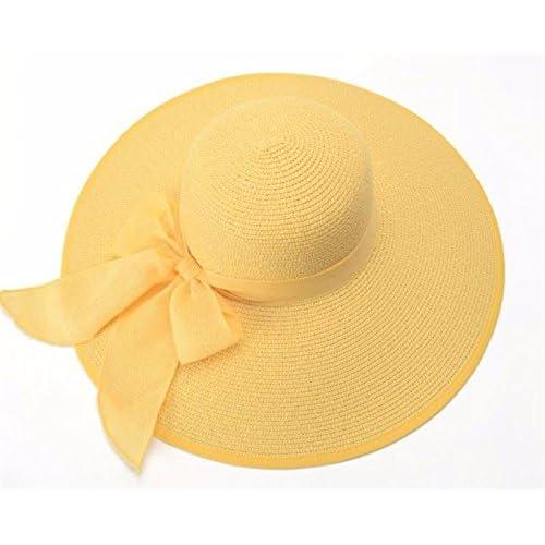 Barato LOF-fei Mujer verano Sombrero para el sol Sombreros de paja plegable  amarillo al a9856e9f4d2