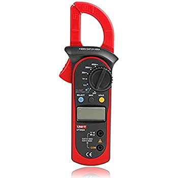 Signstek Uni-t UT202A Auto-Ranging AC/DC Voltmeter and AC 600 AMPS Meter Auto/Manual Range Digital Handheld Clamp Meter Multimeter AC DC Test Tool(Dipatched from US)