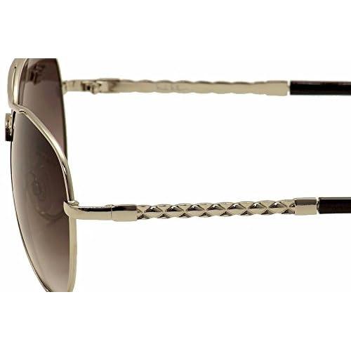 86af44a8548a8 Nicole Miller Women s Corinth C02 Silver Black Fashion Aviator Sunglasses  62mm 50%OFF