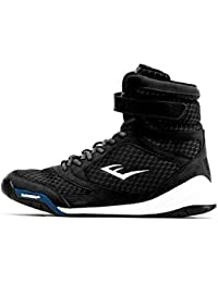 New Elite High Top Boxing Shoes - Black, Blue, Red