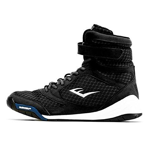 Everlast New Elite High Top Boxing Shoes - Black, Blue, Red (8, Black)