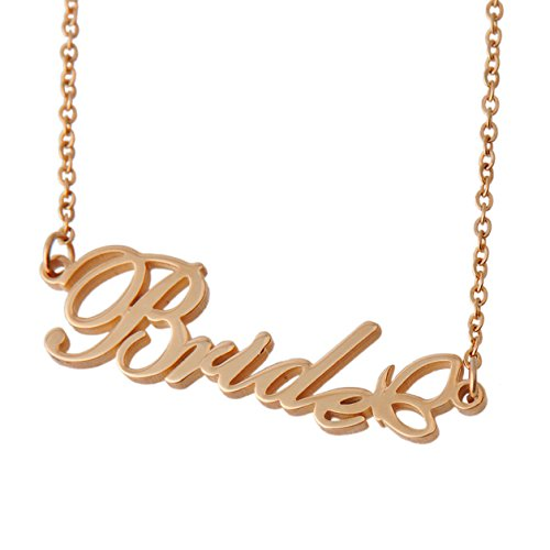 HUAN XUN Personalized Customized Name Initial Necklace Monogrammed Heart Butterfly Words Girl's Jewelry