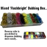 MIXED Flashbright Dubbing for Fly Tying in 20 Compartment Box - RRP £19