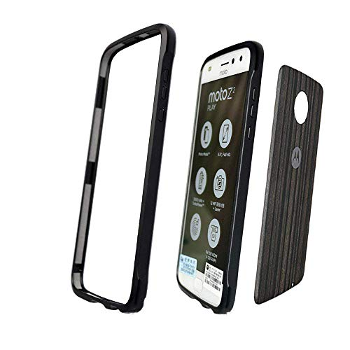 Moto Z2 Play Bumper Case,Dngn Aluminum Metal Bumper Frame [with 1 Back Film ] Compatible with Moto Mods for Motorola Moto Z2 Play(Black)