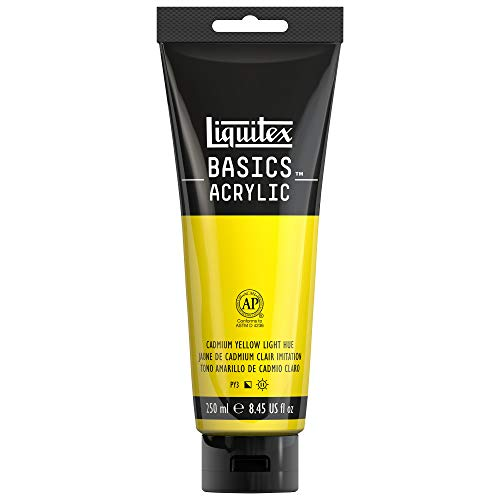 Liquitex BASICS Acrylic Paint, 8.45-oz tube, Cadmium Yellow Light - Yellow Light Cadmium Colors