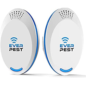 Ultrasonic Pest Repellent Control 2019 (2-Pack), Plug in Home, Flea, Rats, Roaches, Cockroaches, Fruit Fly, Rodent, Insect, Indoor and Outdoor Repeller, ...