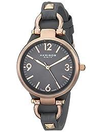Akribos XXIV Women's AK761GY Impeccable Analog Display Swiss Quartz Grey Watch