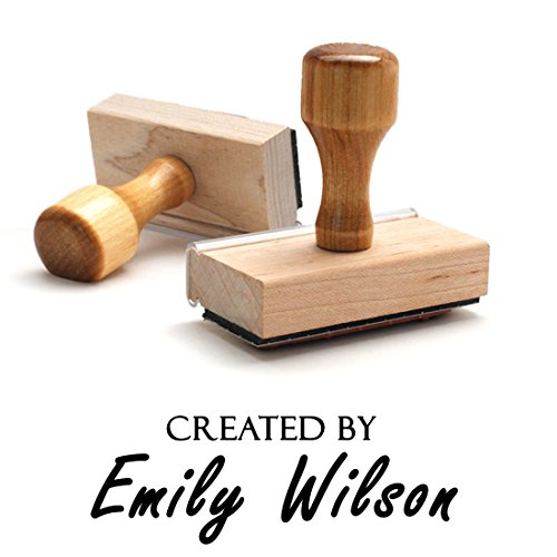 - Customizable Personalized Created for you Self Inking Stamp Book Label Name This Book Belongs to Personalized Wooden Handle Custom Rubber Stamper Child Kids Stamp Year Book Signature