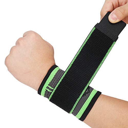 Wrist Braces with Adjustable Compression Strap,Wrist Band for Workout Men & Women,Weight Lifting,Strength Training,Tennis,Basketball Wrist Wraps(L)