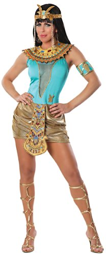 Playboy Goddess Bunny Costume, Turquoise/Gold, Large (Egyptian Women Costume)