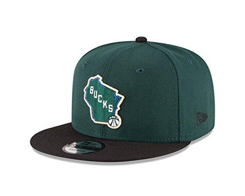 New Era NBA Milwaukee Bucks Men's 9Fifty 2Tone Snapback Cap, One Size, Dark Green]()