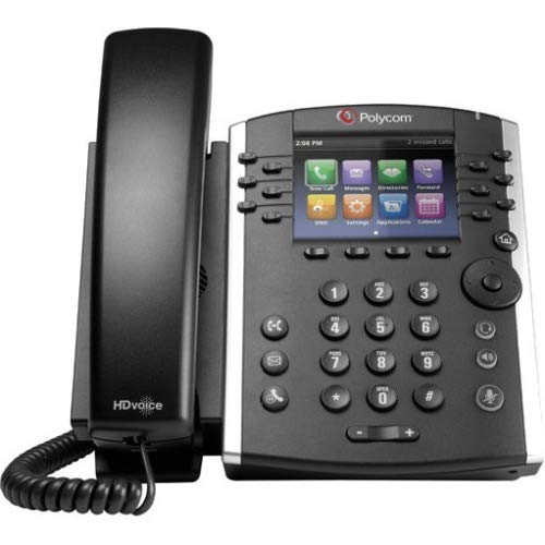 ed Business Media Phone System - 12 Line PoE - 2200-48400-001 - AC Adapter (Included) - Replaces VVX 400 ()