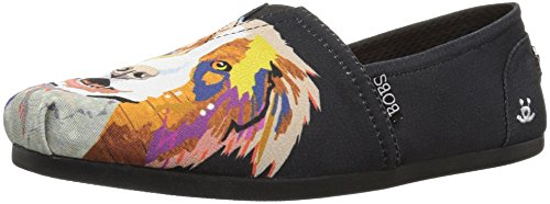 Skechers Mujeres Bobs Plush-breeds Ballet Plano Negro - Collie Cutie
