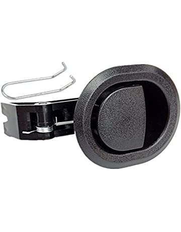 2X Recliner Replacement Parts @ Small Oval Black Plastic Pull Recliner Handle, Flapper Style
