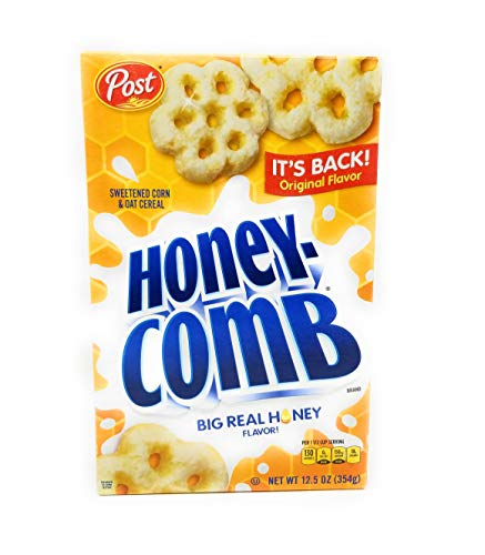 Post Honey Comb Nutritious Sweetened Corn & Oat 12.5 Oz. Pk Of 3.