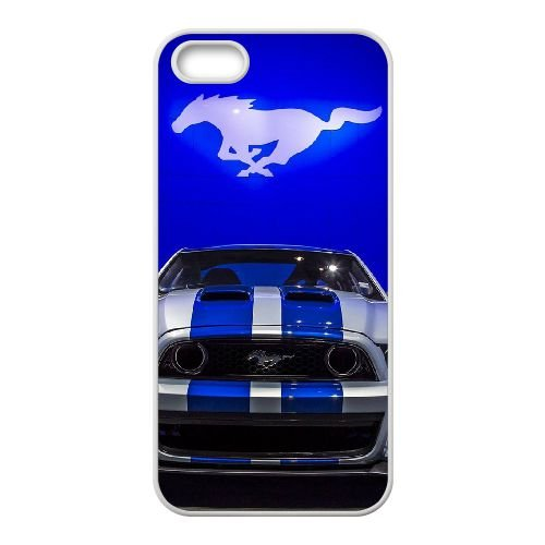 Mustang 002 coque iPhone 4 4S Housse Blanc téléphone portable couverture de cas coque EOKXLKNBC23113