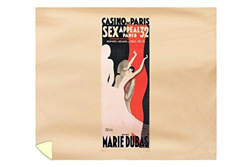 Casino de Paris - Sex Appeal '32 - Marie Dubas Vintage Poster (artist: Colin) France c. 1932 (88x104 King Microfiber Duvet Cover) by Lantern Press